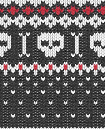 핀란드의: 겨울 의류에 대한 원활한 니트 패턴. 10 벡터 일러스트 레이 션, EPS.