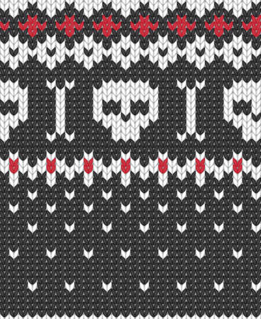 Seamless knitted pattern for winter clothing. EPS 10 vector illustration.