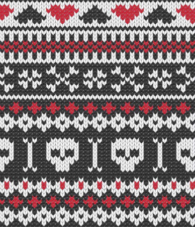 Seamless knitted pattern for winter clothing. EPS 10 vector illustration. Stock Vector - 11997932