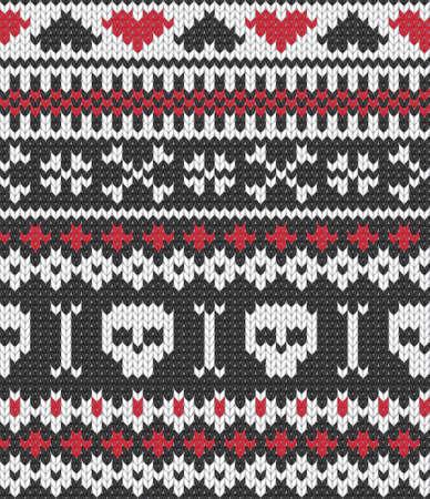Tricoté sans couture modèle pour les vêtements d'hiver. Illustration vecteur EPS 10.