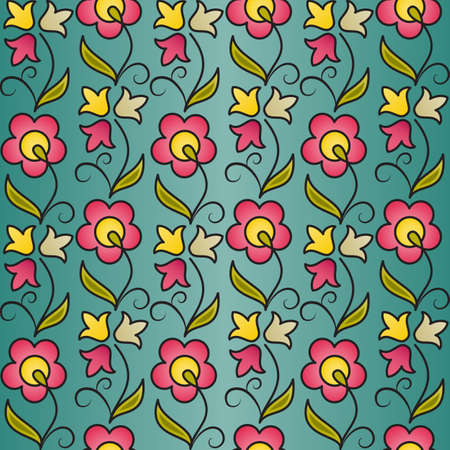Seamless flower pattern background. EPS10 vector illustration. Vector