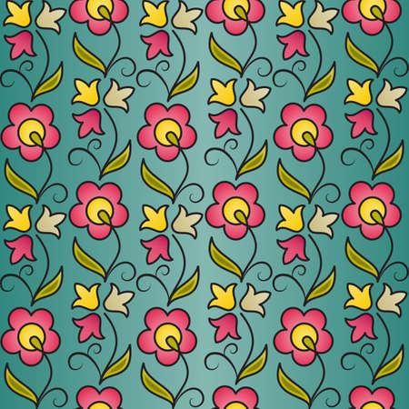Seamless flower pattern background. EPS10 vector illustration. Vector