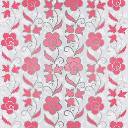 Seamless flower pattern background. illustration. Vector
