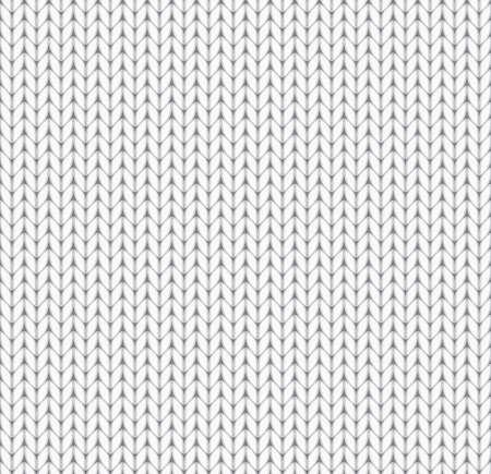 knitted background: fondo blanco tejido sin costuras. EPS10 ilustraci�n vectorial.