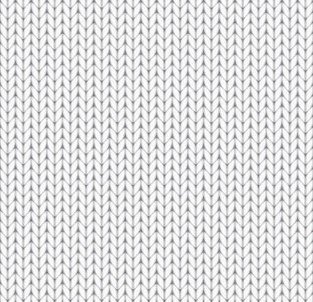 repetition row: white seamless knitted background. EPS10 vector illustration.