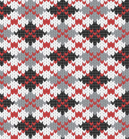 Seamless knitted pattern for winter clothing.