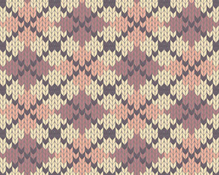 Seamless knitted pattern for winter clothing.  Vector