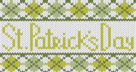 Seamless knitted pattern for St. Patricks Day.  Vector