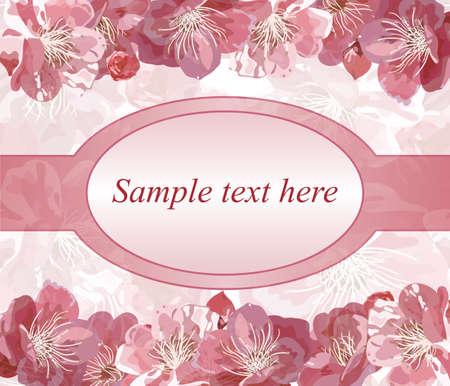 pink wedding: Invitation for wedding.  Illustration