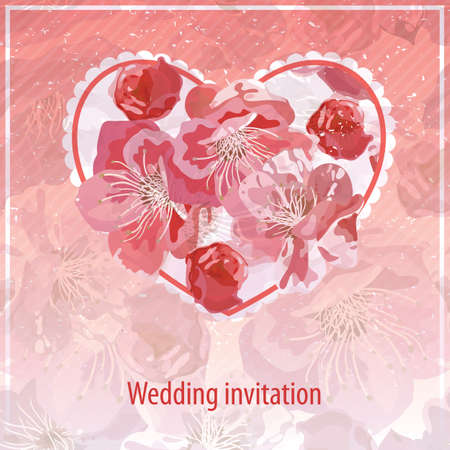 Invitation for wedding. Vector
