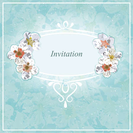 Invitation for wedding, shower, baby event, special occasion.  Vector