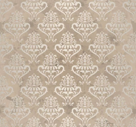 wallpaper pattern: vintage seamless wallpaper   illustration  Illustration