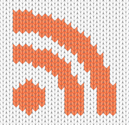 knitted RSS Icon  illustration Stock Vector - 12346650