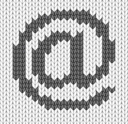 knitted mail Icon   illustration Stock Vector - 12346652