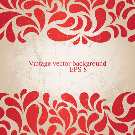 Red grunge wallpaper  EPS8 vector illustration Stock Illustration - 12429332