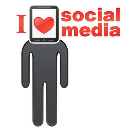 Social media concept icon  EPS 8 vector illustration Stock Vector - 12429333