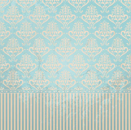 Vintage wallpaper in grunge style  Grunge effect can be removed  EPS 8 vector illustration  Vector