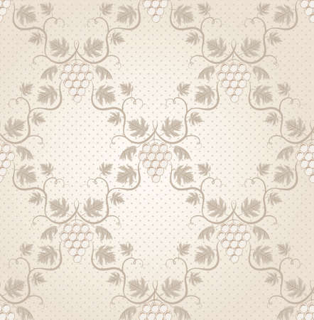 Seamless grape pattern  EPS 8 vector illustration  Vector