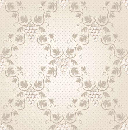 Seamless grape pattern  EPS 8 vector illustration  Vector