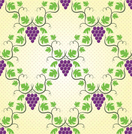 Seamless wine grape pattern  EPS 8 vector illustration  Vector