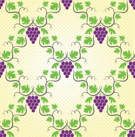 Seamless wine grape pattern  EPS 8 vector illustration  Vector