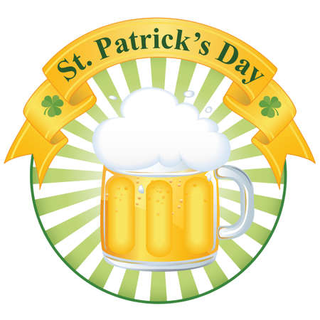 A glass of fine beer for St  Patrick s day EPS 8 vector illusrtation Stock Vector - 12495092