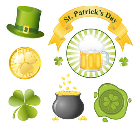 St  Patrick s Day icon set  EPS 8 vector illustration Stock Vector - 12495091
