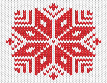 knitted background: Red de copo de nieve tejido sin costuras de fondo EPS 8 ilustraci�n vectorial