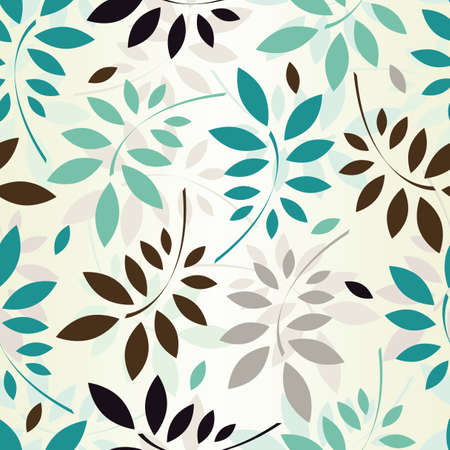 aquamarin: Nahtlose Muster farbiger Bl�tter EPS 8 Vektor-Illustration