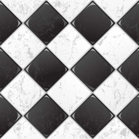 Black And White tile seamless background  EPS 10 vector  Vector