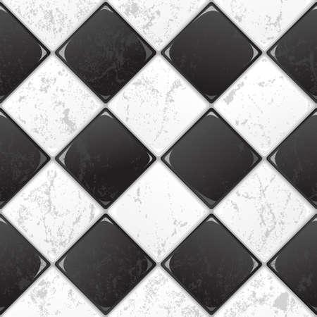 Blanco y negro sin fisuras de baldosas de fondo EPS vector de 10