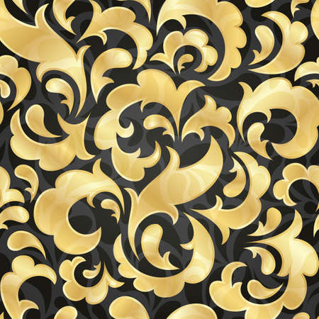 Golden seamless wallpaper  EPS 10 vector illustration  Stock Vector - 12931912