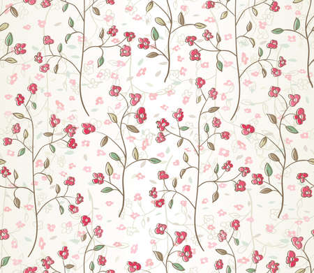 tissue paper: Floral seamless pattern