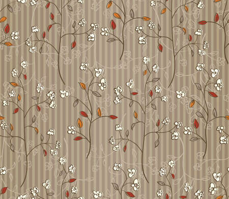 Floral autumn seamless wallpaper  EPS 10 vector illustration Vector