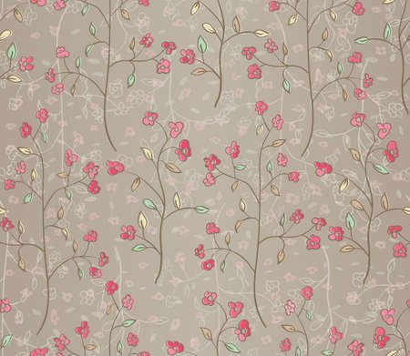 Floral seamless pattern  EPS 10 vector illustration