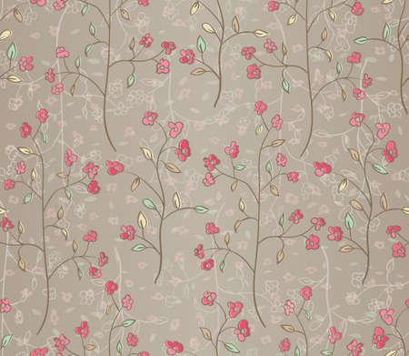 Floral seamless pattern  EPS 10 vector illustration