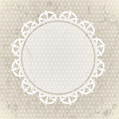 Vintage lace background  EPS 10 vector illustration Vector