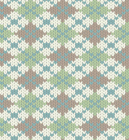 Seamless knitted pattern for winter clothing Vector