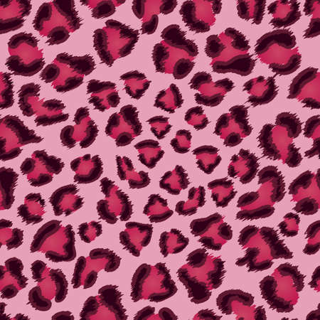 animal print background: Seamless pink leopard texture pattern