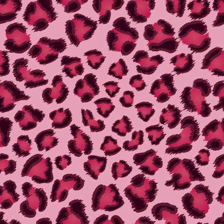 couleur de peau: Seamless rose texture l�opard