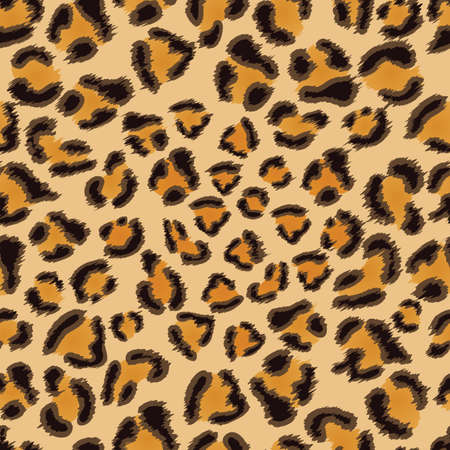 leopard fur: Leopard seamless background for your design
