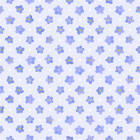 Seamless floral pattern with forget-me-not flowers  Vector