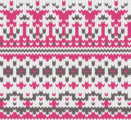 Seamless knitted background for winter clothes  EPS 8 vector illustration  Vector