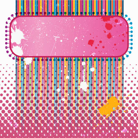 festival poster: Multicolor vintage poster in grunge style illustration