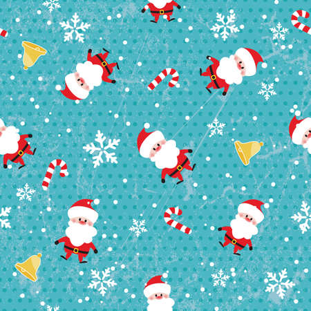 Seamless Christmas pattern on grunge background Vector