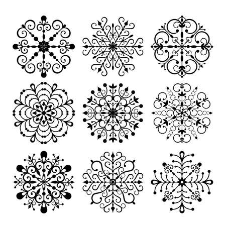 Decorative Snowflakes isolated on white background Stock Vector - 14266690