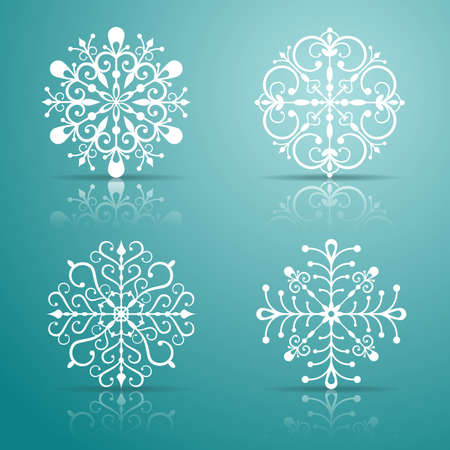 rime: Decorative vector Snowflakes set for Christmas design  EPS 10 vector illustration  Contains opacity masks