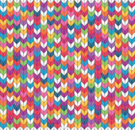 Multicolor naadloos gebreide achtergrond EPS 8 vector illustratie
