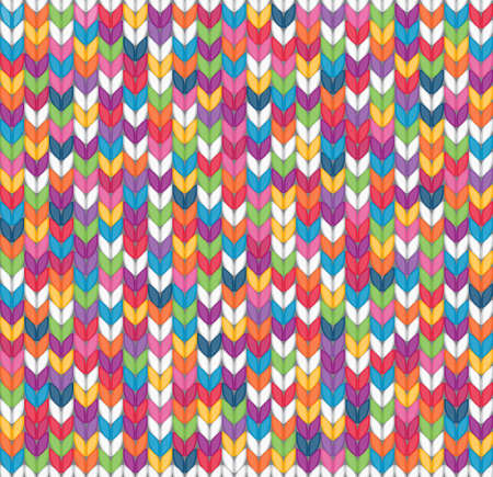 Multicolor seamless knitted background  EPS 8 vector illustration