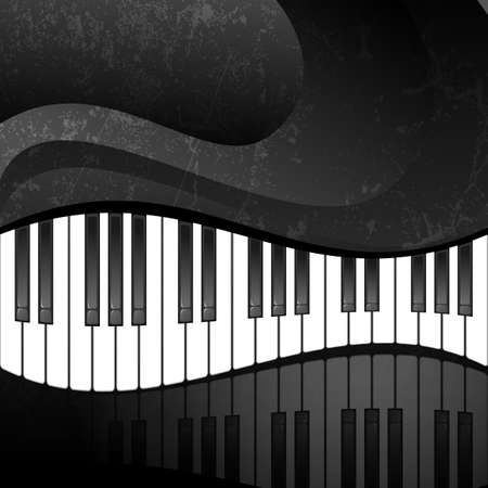 virtuoso: Abstract background with piano keys in grunge style  EPS10 vector illustration  Contains opacity mask  Illustration